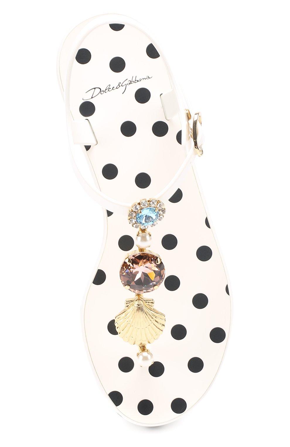 Резиновые сандалии с кристаллами | Фото №5