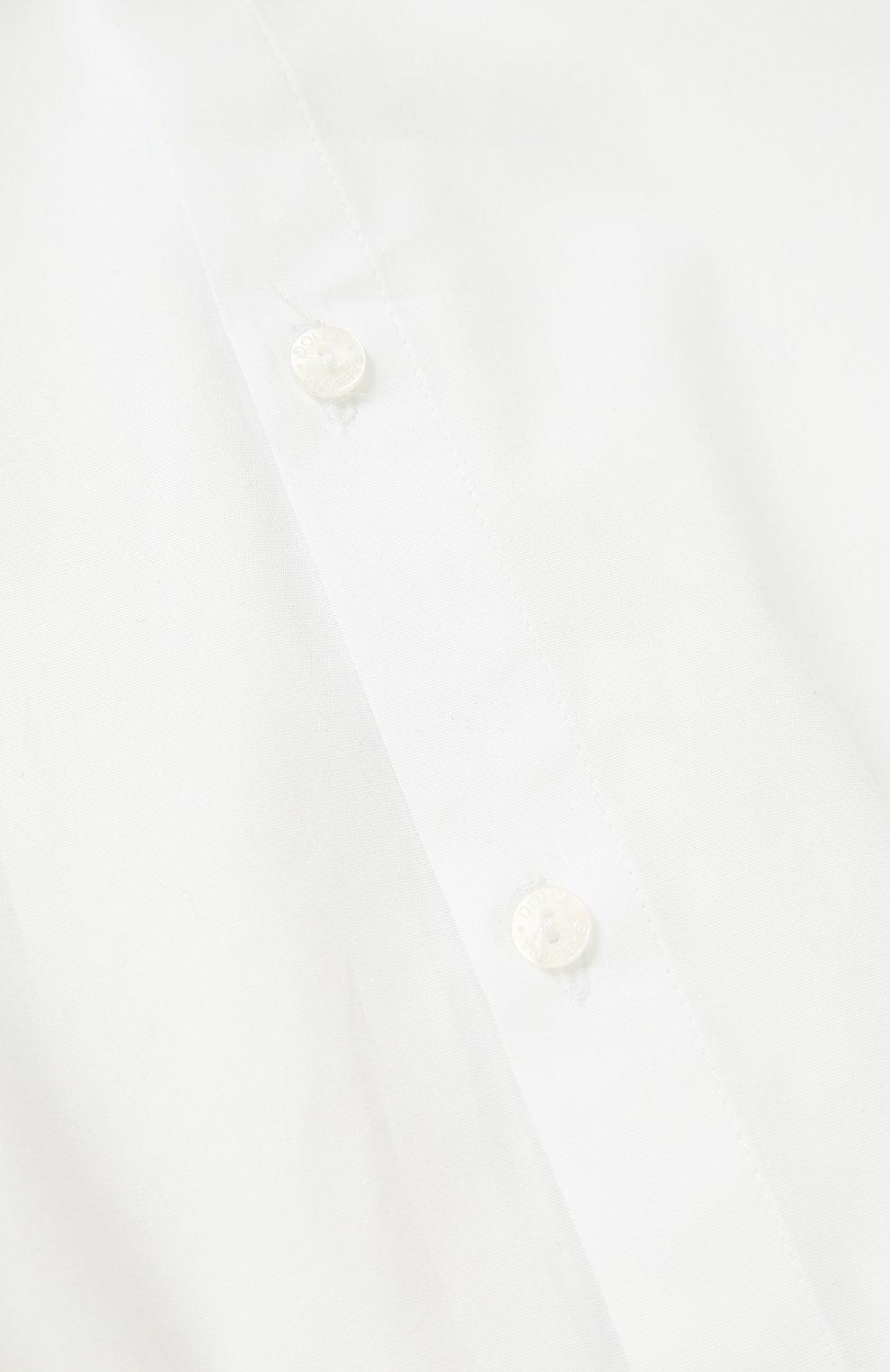 Однотонное хлопковое боди Dolce & Gabbana белого цвета   Фото №3