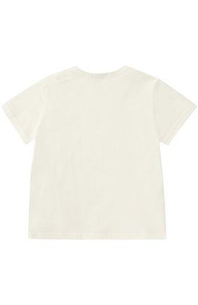 Детский хлопковая футболка с логотипом бренда DOLCE & GABBANA белого цвета, арт. 0131/L1JT4I/G7JKK | Фото 2