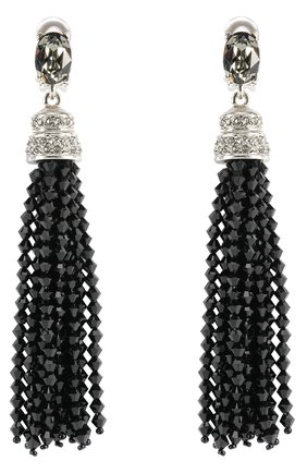 Женские серьги-клипсы OSCAR DE LA RENTA серого цвета, арт. 0J106BLD | Фото 1