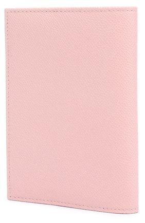 Кожаная обложка для документов Dolce & Gabbana светло-розового цвета | Фото №2