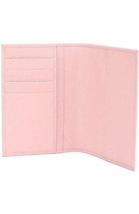 Кожаная обложка для документов Dolce & Gabbana светло-розового цвета | Фото №3