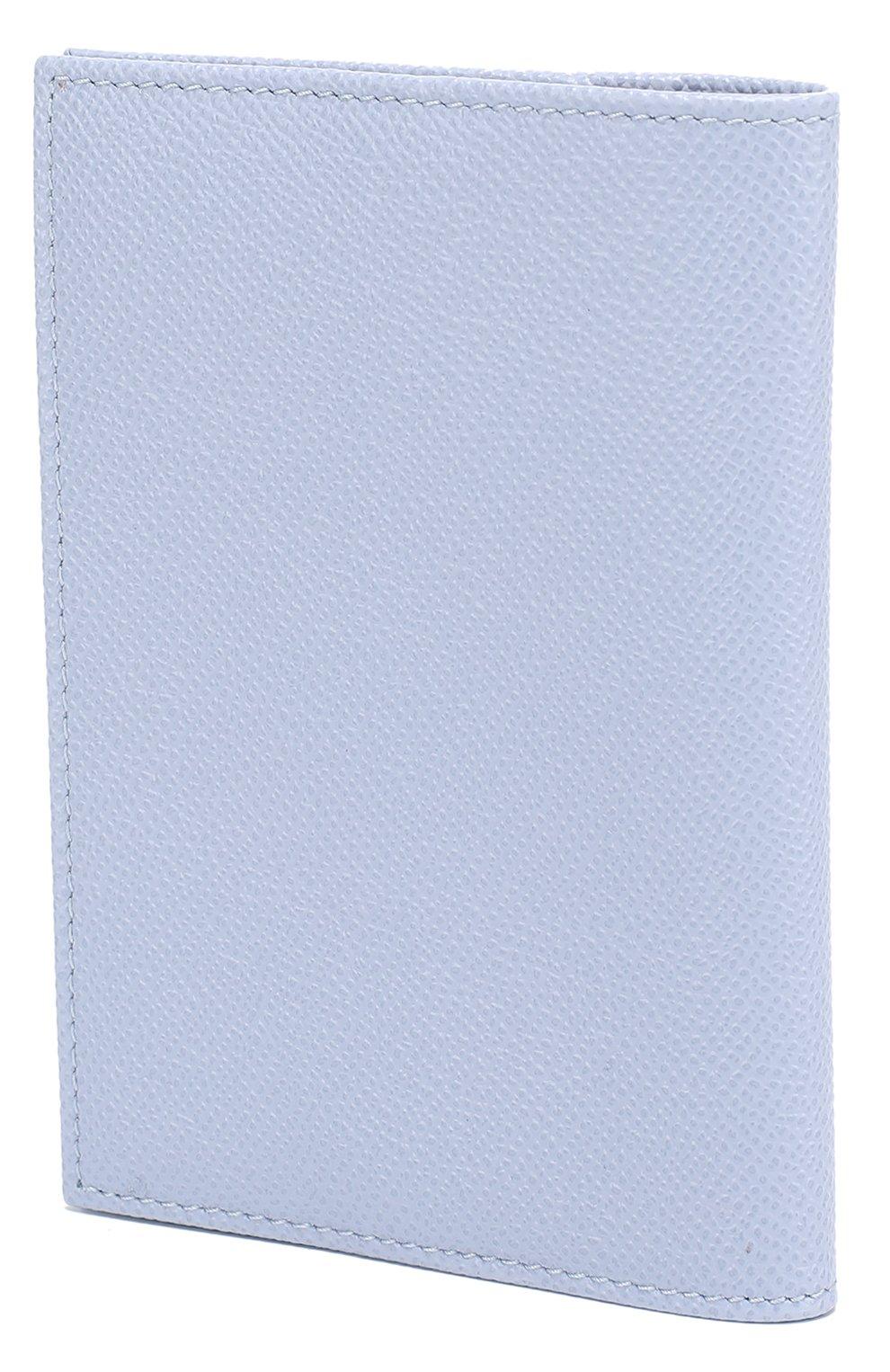 Кожаная обложка для документов Dolce & Gabbana светло-голубого цвета | Фото №2