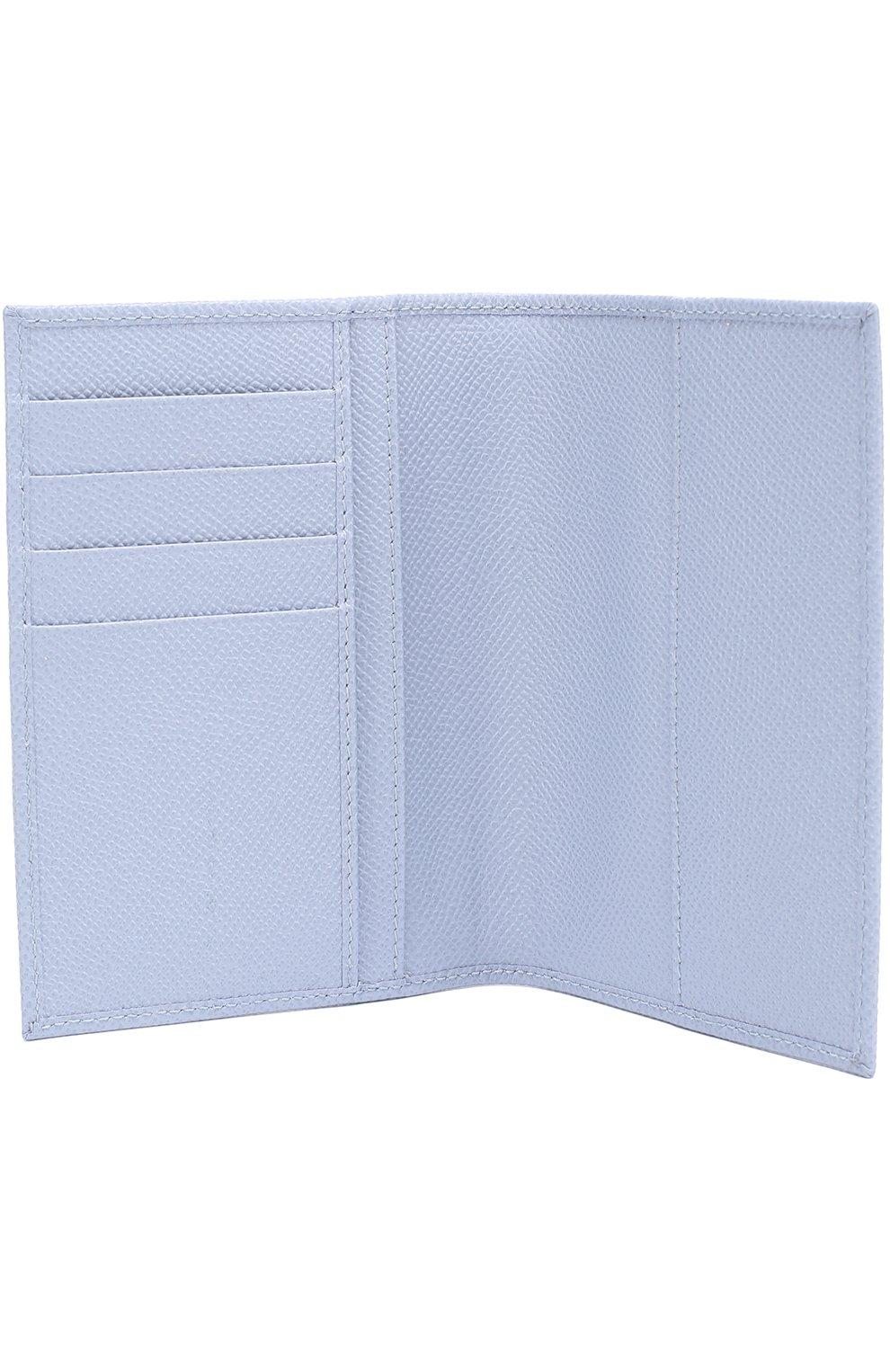 Кожаная обложка для документов Dolce & Gabbana светло-голубого цвета | Фото №3