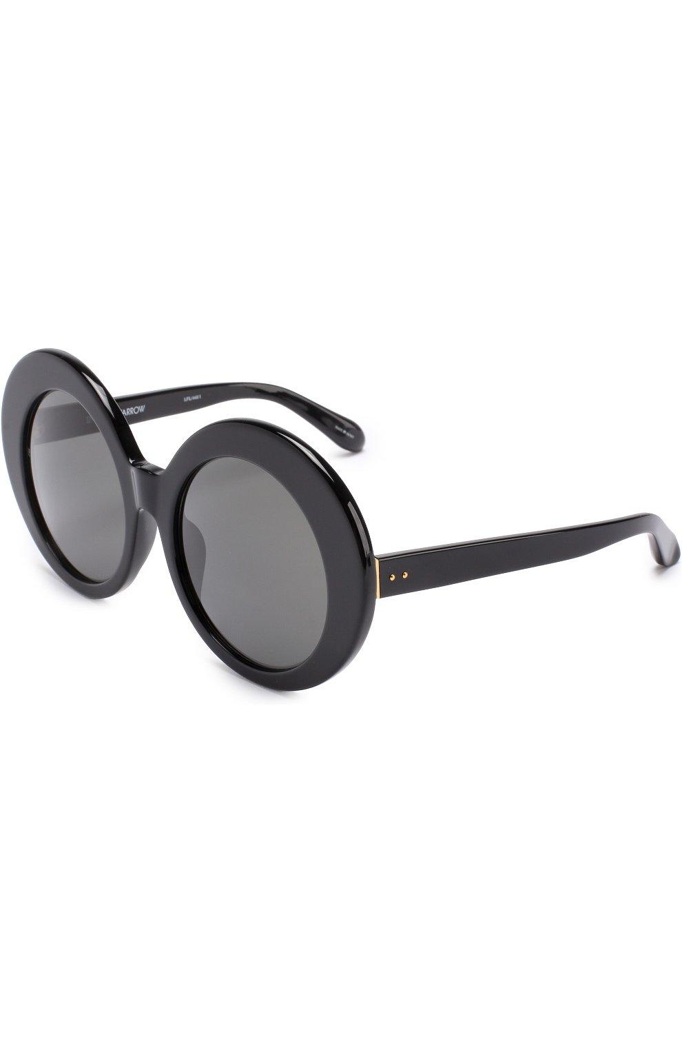 Женские солнцезащитные очки LINDA FARROW черного цвета, арт. LFL468C1 SUN | Фото 1