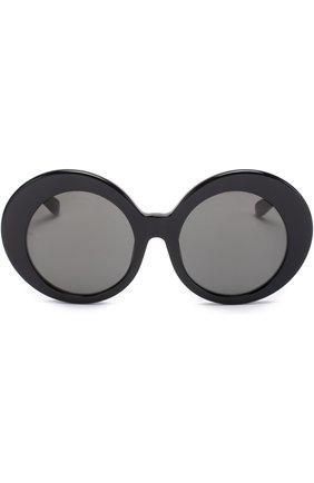 Женские солнцезащитные очки LINDA FARROW черного цвета, арт. LFL468C1 SUN | Фото 3