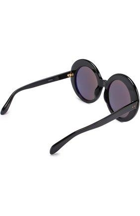 Женские солнцезащитные очки LINDA FARROW черного цвета, арт. LFL468C1 SUN | Фото 4