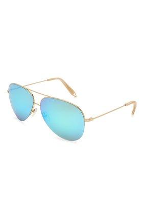 Женские солнцезащитные очки VICTORIA BECKHAM золотого цвета, арт. S98 C02 | Фото 1