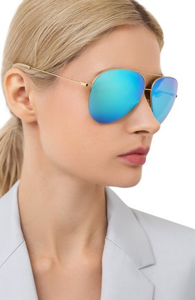 Женские солнцезащитные очки VICTORIA BECKHAM золотого цвета, арт. S98 C02 | Фото 2