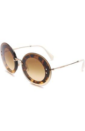 Женские солнцезащитные очки MIU MIU коричневого цвета, арт. 10RS-7S01G0 | Фото 1