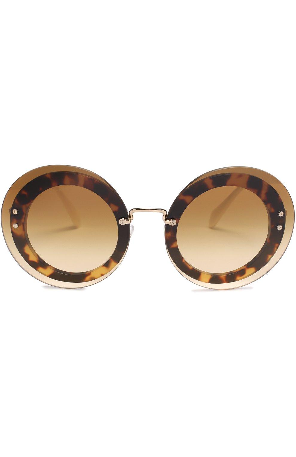 Женские солнцезащитные очки MIU MIU коричневого цвета, арт. 10RS-7S01G0 | Фото 3