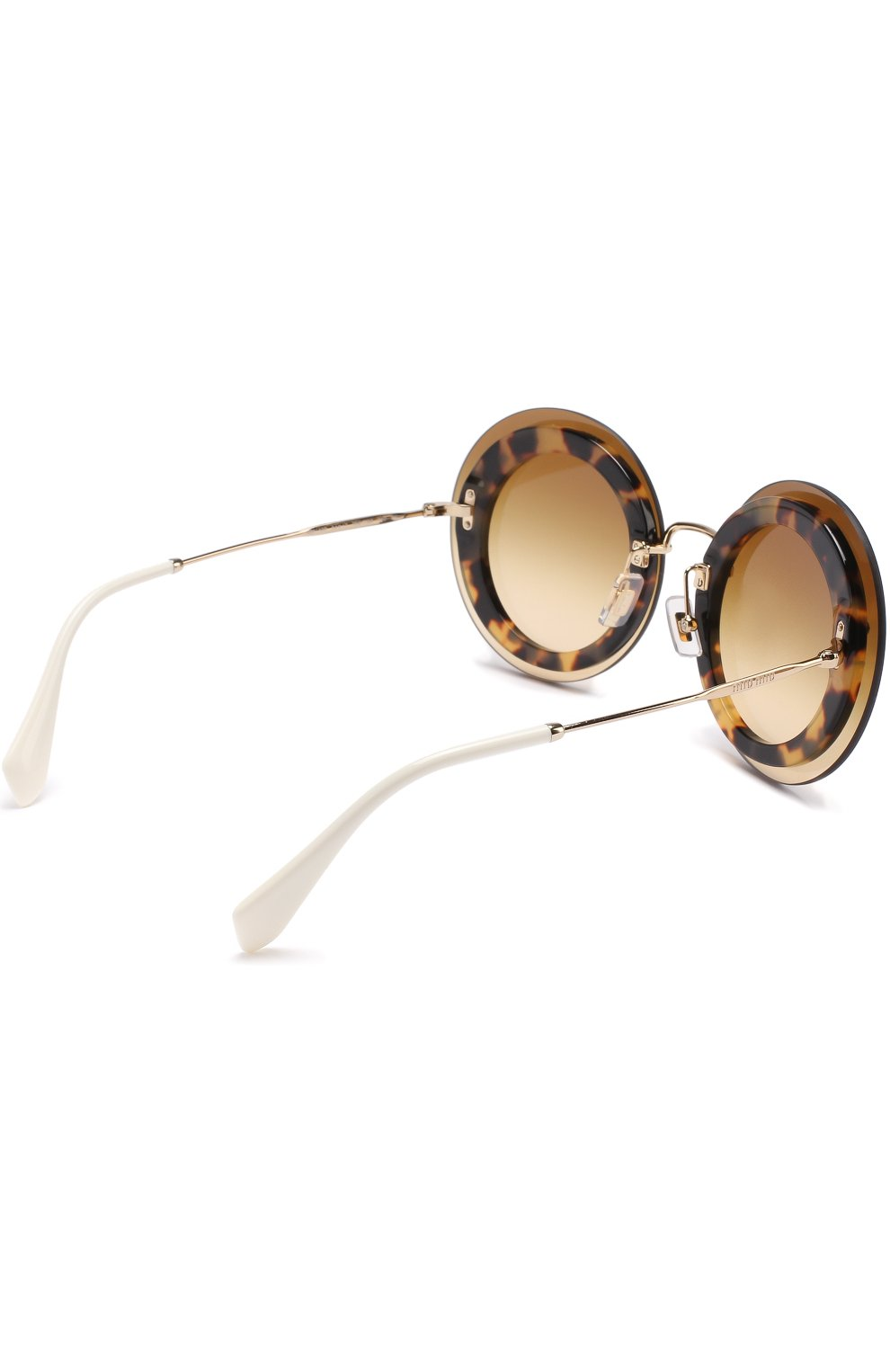 Женские солнцезащитные очки MIU MIU коричневого цвета, арт. 10RS-7S01G0 | Фото 4