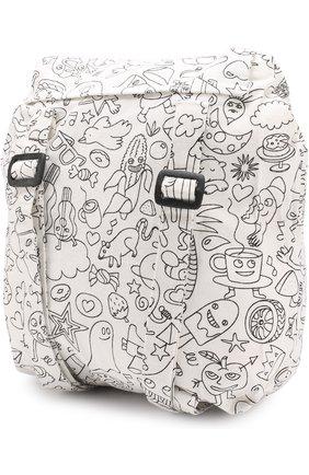 Детская рюкзак из текстиля с принтом OMY разноцветного цвета, арт. SD0 | Фото 2