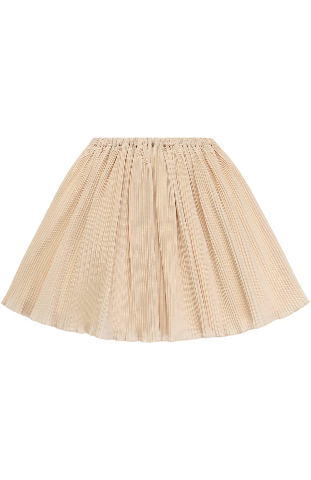 Мини-юбка свободного кроя с плиссировкой | Фото №1