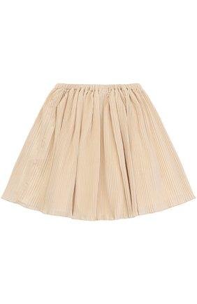 Мини-юбка свободного кроя с плиссировкой | Фото №2