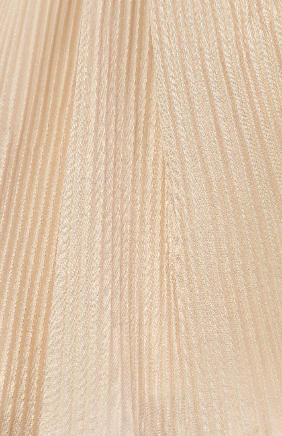 Мини-юбка свободного кроя с плиссировкой | Фото №3