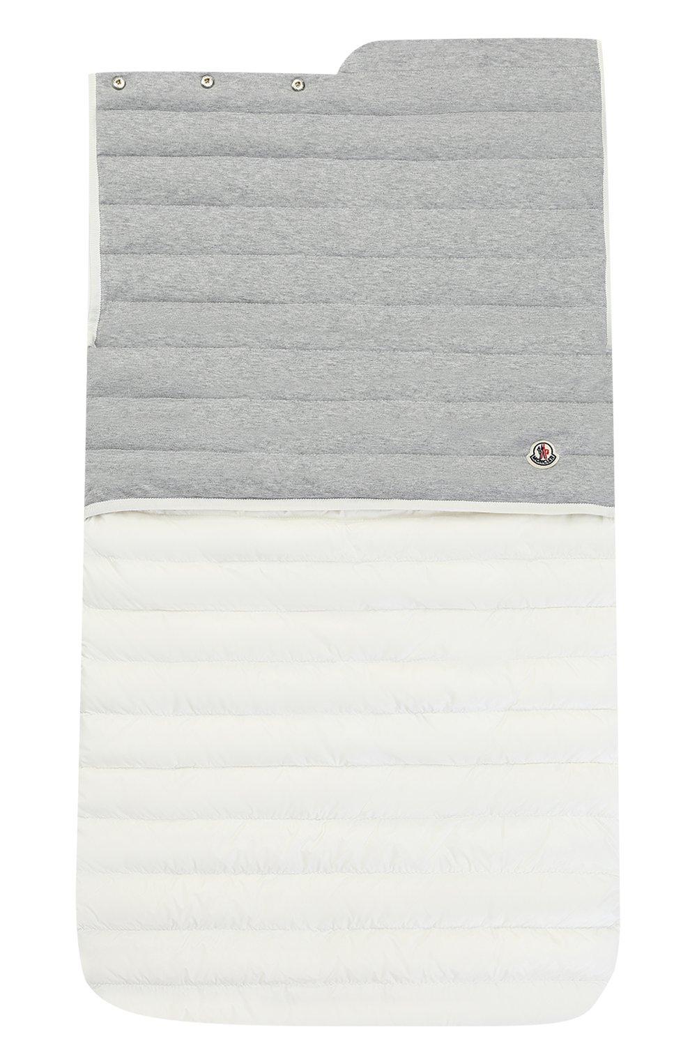 Детский стеганый пуховый конверт MONCLER ENFANT белого цвета, арт. C1-951-00858-06-53048 | Фото 2