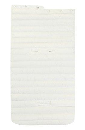 Детский стеганый пуховый конверт MONCLER ENFANT белого цвета, арт. C1-951-00858-06-53048 | Фото 3