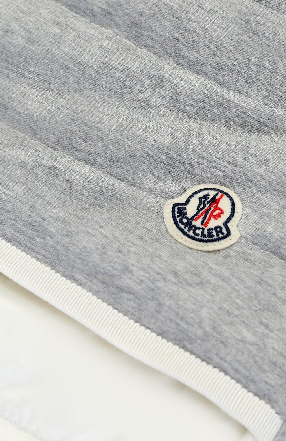 Детский стеганый пуховый конверт MONCLER ENFANT белого цвета, арт. C1-951-00858-06-53048 | Фото 4