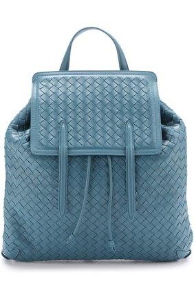 Кожаный рюкзак с плетением intrecciato   Фото №1