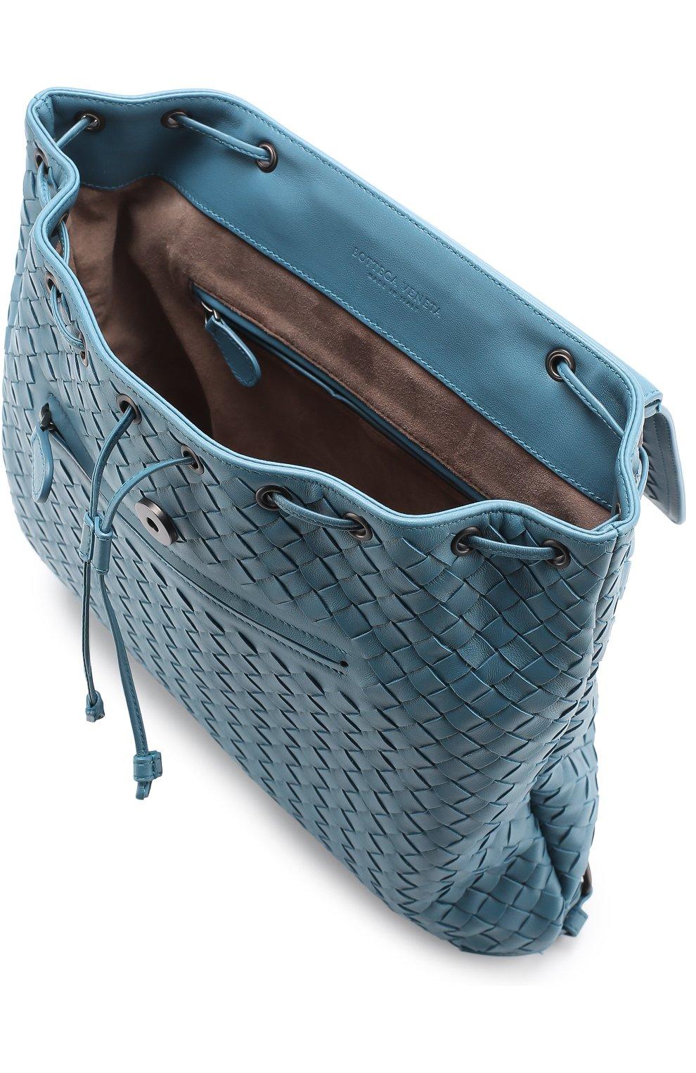 Кожаный рюкзак с плетением intrecciato   Фото №3