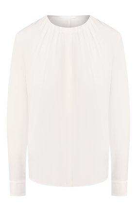Женская шелковая блузка BOSS белого цвета, арт. 50363436 | Фото 1