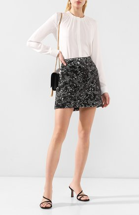 Женская шелковая блузка BOSS белого цвета, арт. 50363436 | Фото 2