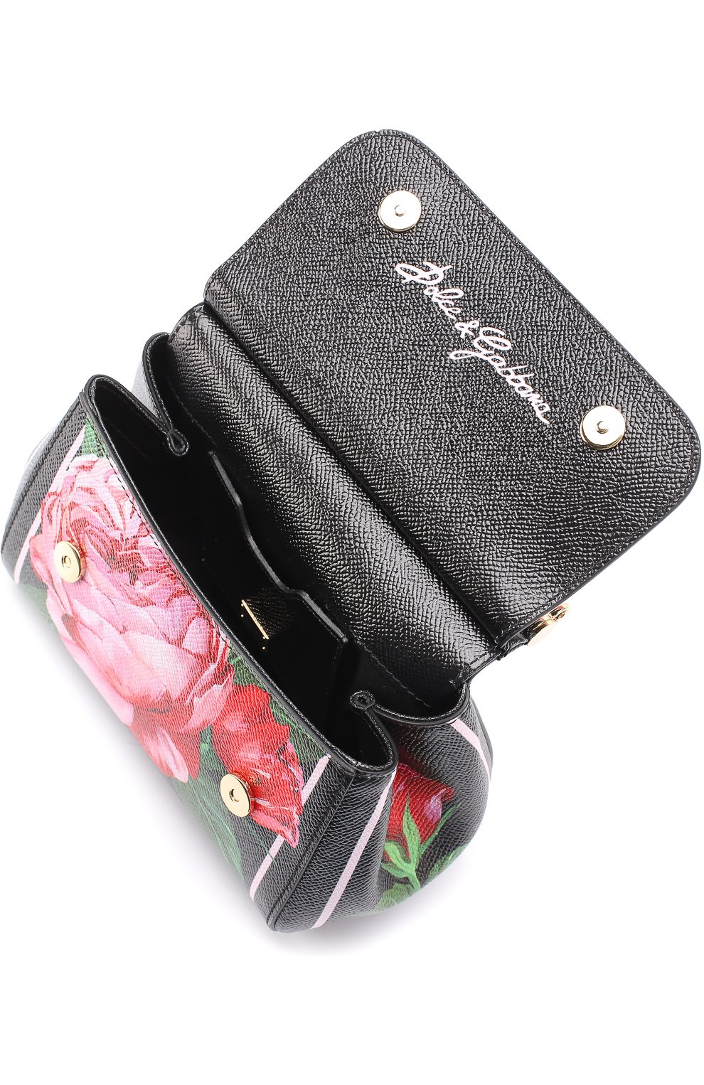 Сумка Sicily micro с принтом Dolce & Gabbana розовая цвета | Фото №4
