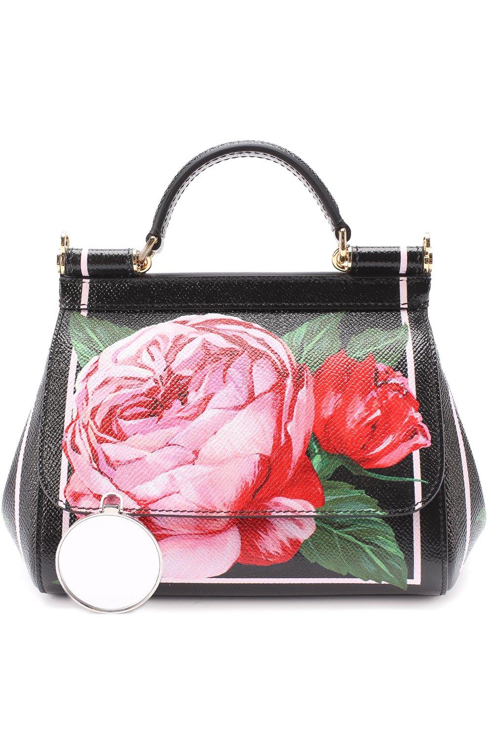 Сумка Sicily micro с принтом Dolce & Gabbana розовая цвета | Фото №5