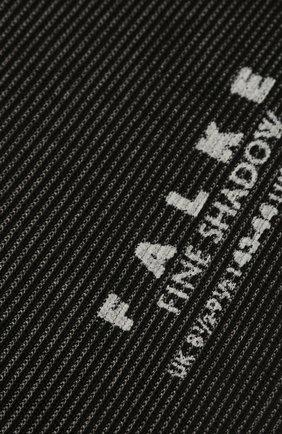 Мужские хлопковые носки fine shadow FALKE черного цвета, арт. 13141 | Фото 2