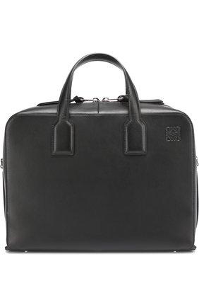 Кожаный портфель на молнии с плечевым ремнем