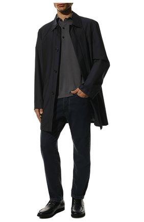 Мужские ботинки из кожи каймана без шнуровки KITON темно-синего цвета, арт. USSFLY/N00118 | Фото 2