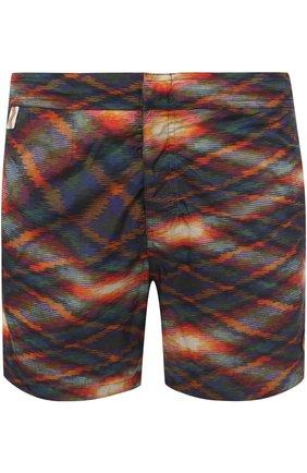 Плавки-шорты с принтом Missoni оранжевые | Фото №1