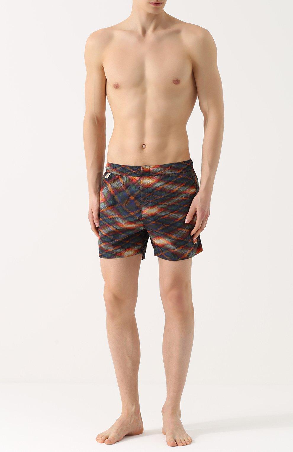 Плавки-шорты с принтом Missoni оранжевые | Фото №2