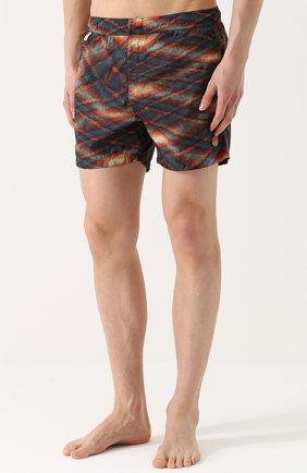 Плавки-шорты с принтом Missoni оранжевые | Фото №3