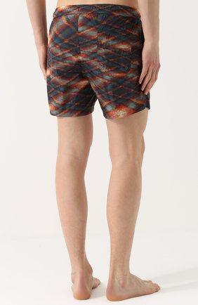 Плавки-шорты с принтом Missoni оранжевые | Фото №4