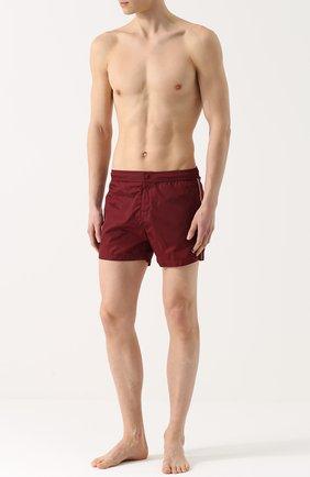 Плавки-шорты с контрастной отделкой | Фото №2
