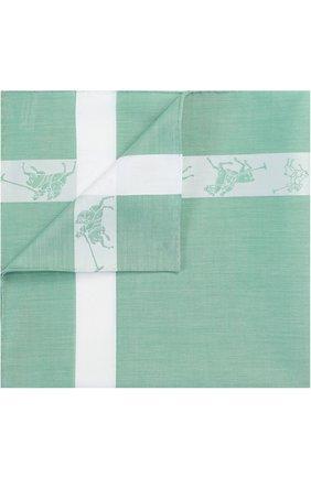 Хлопковый платок с контрастной отделкой   Фото №1