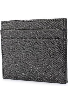 Кожаный футляр для кредитных карт Dolce & Gabbana черного цвета   Фото №2