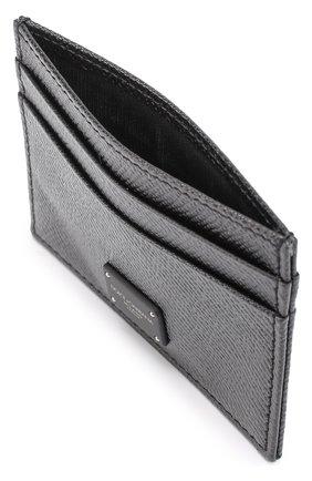 Кожаный футляр для кредитных карт Dolce & Gabbana черного цвета   Фото №3
