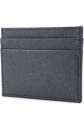 Кожаный футляр для кредитных карт Dolce & Gabbana темно-синего цвета | Фото №2