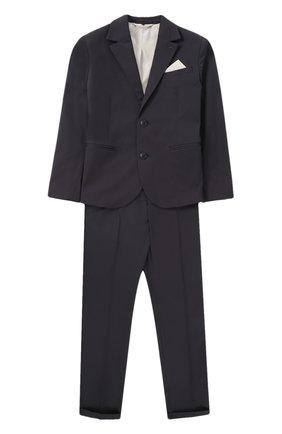 Хлопковый костюм с пиджаком на двух пуговицах | Фото №1