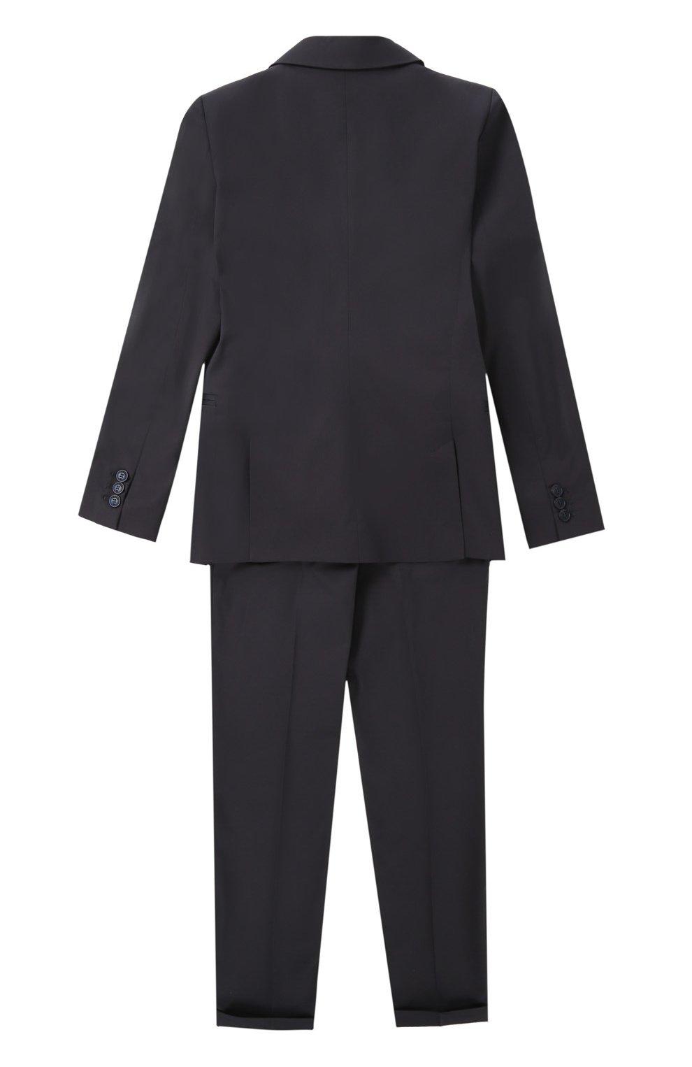 Хлопковый костюм с пиджаком на двух пуговицах | Фото №2