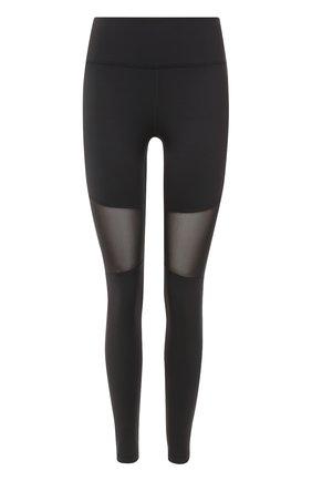Спортивные леггинсы с прозрачными вставками Varley черного цвета | Фото №1