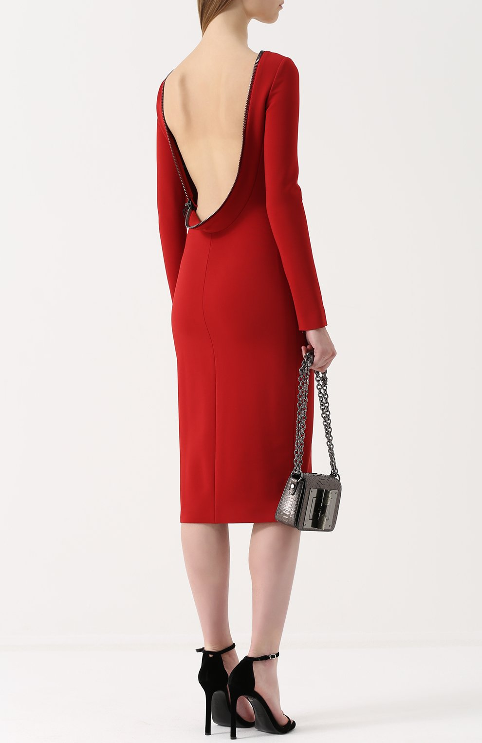 d2d64167563 Женское красное платье-футляр с открытой спиной TOM FORD — купить за ...