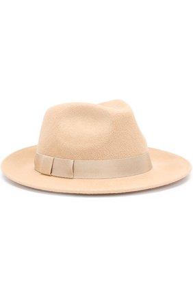 Фетровая шляпа с лентой Ioanna Deschamps Paris бежевого цвета | Фото №1
