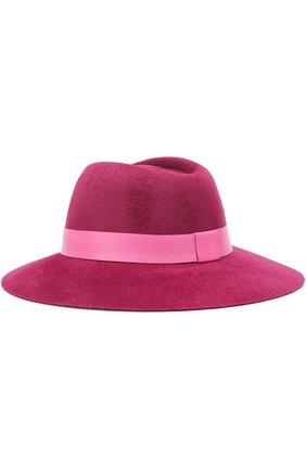 Фетровая шляпа с лентой из кожи Ioanna Deschamps Paris фиолетового цвета | Фото №1