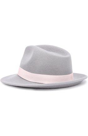 Фетровая шляпа с лентой Ioanna Deschamps Paris серого цвета | Фото №1
