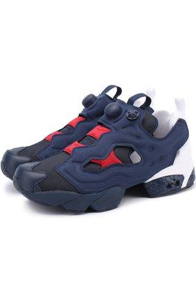 Комбинированные кроссовки Instapump Fury Pop на массивной подошве | Фото №1