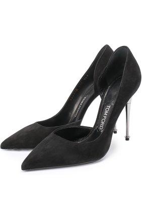 Замшевые туфли Metal Heel на шпильке   Фото №1